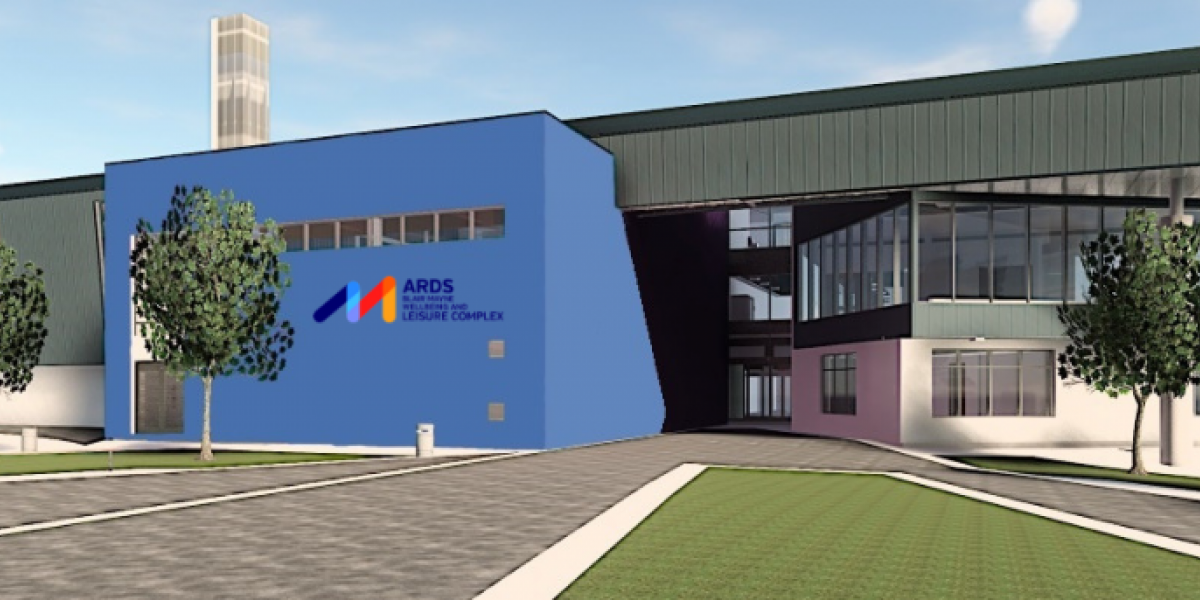 Architects image of the new Ards Blair Mayne