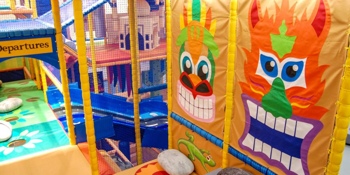 Aztec themed graphics at Ards soft play