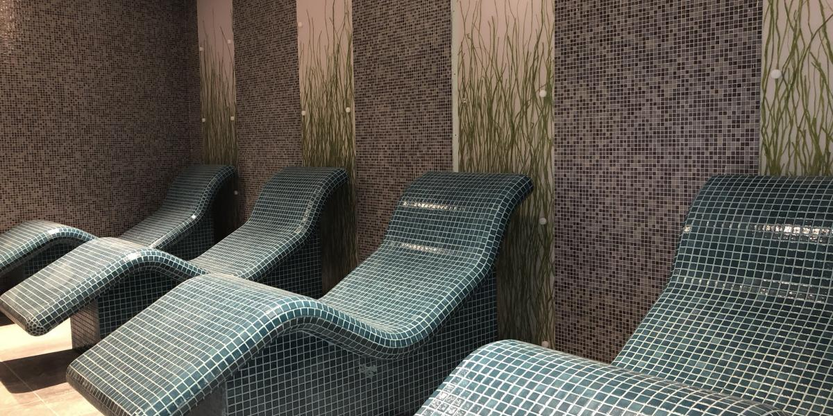relaxation area in the Spa at Ards Blair Mayne Wellbeing and Leisure complex